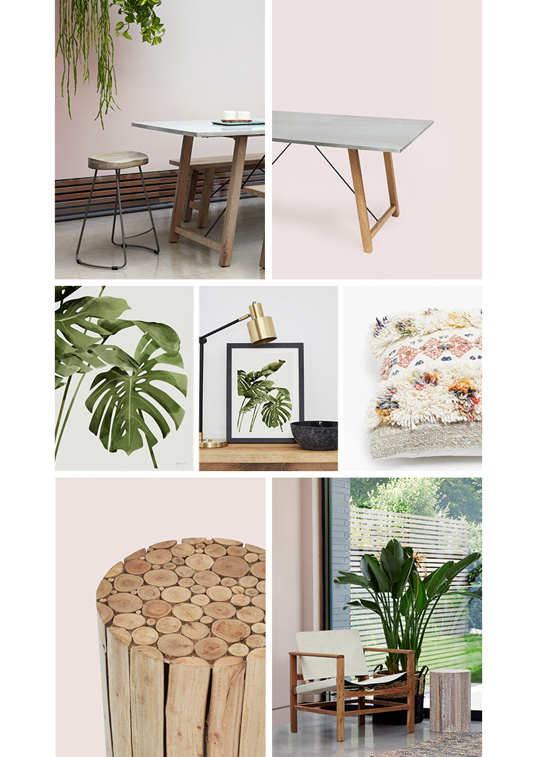 Pale Pink & Palms Homeware