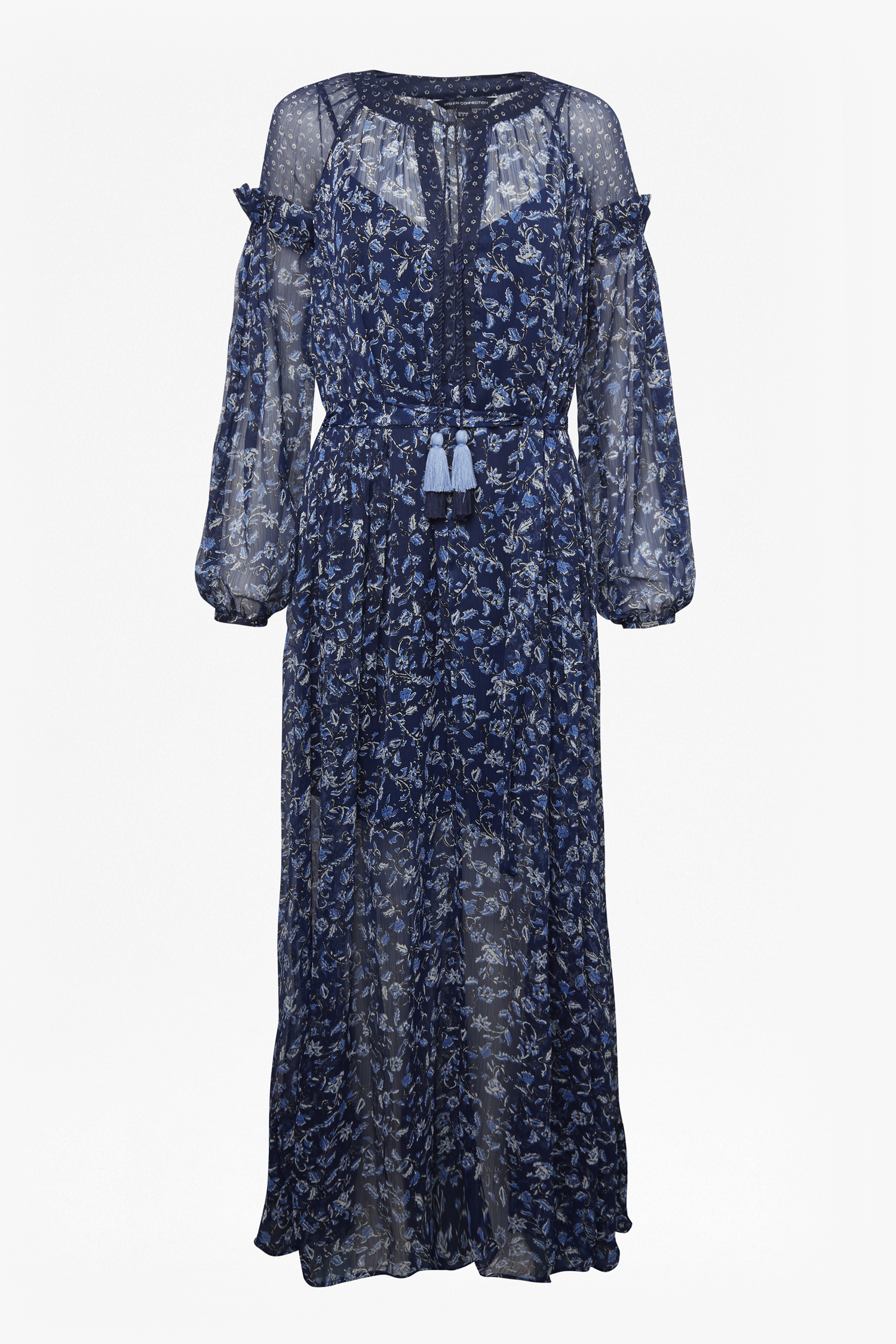 Savana Sheer Midi Folk Dress