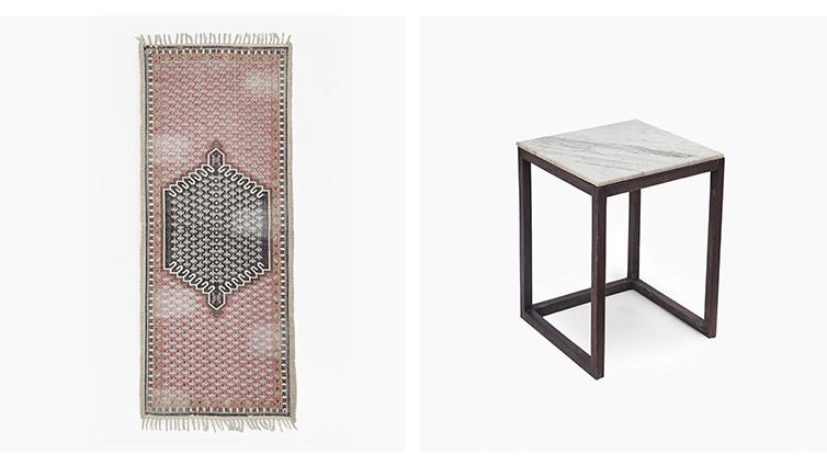 Rug & Marble Table