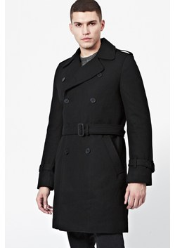 Marine Wool-Blend Trench Coat