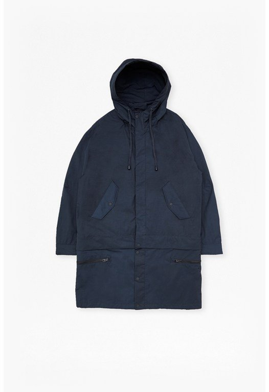 Lightweight Nylon Detachable Parka Coat