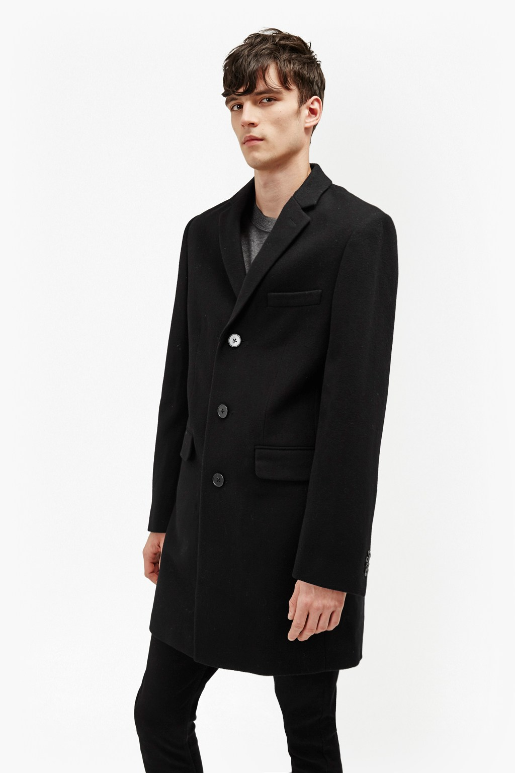 Melton Wool Tailored Coat | Collections | French Connection