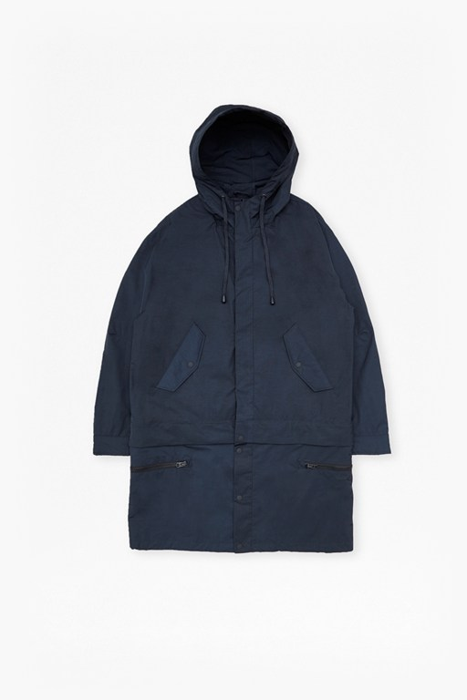 Complete the Look Lightweight Nylon Detachable Parka Coat