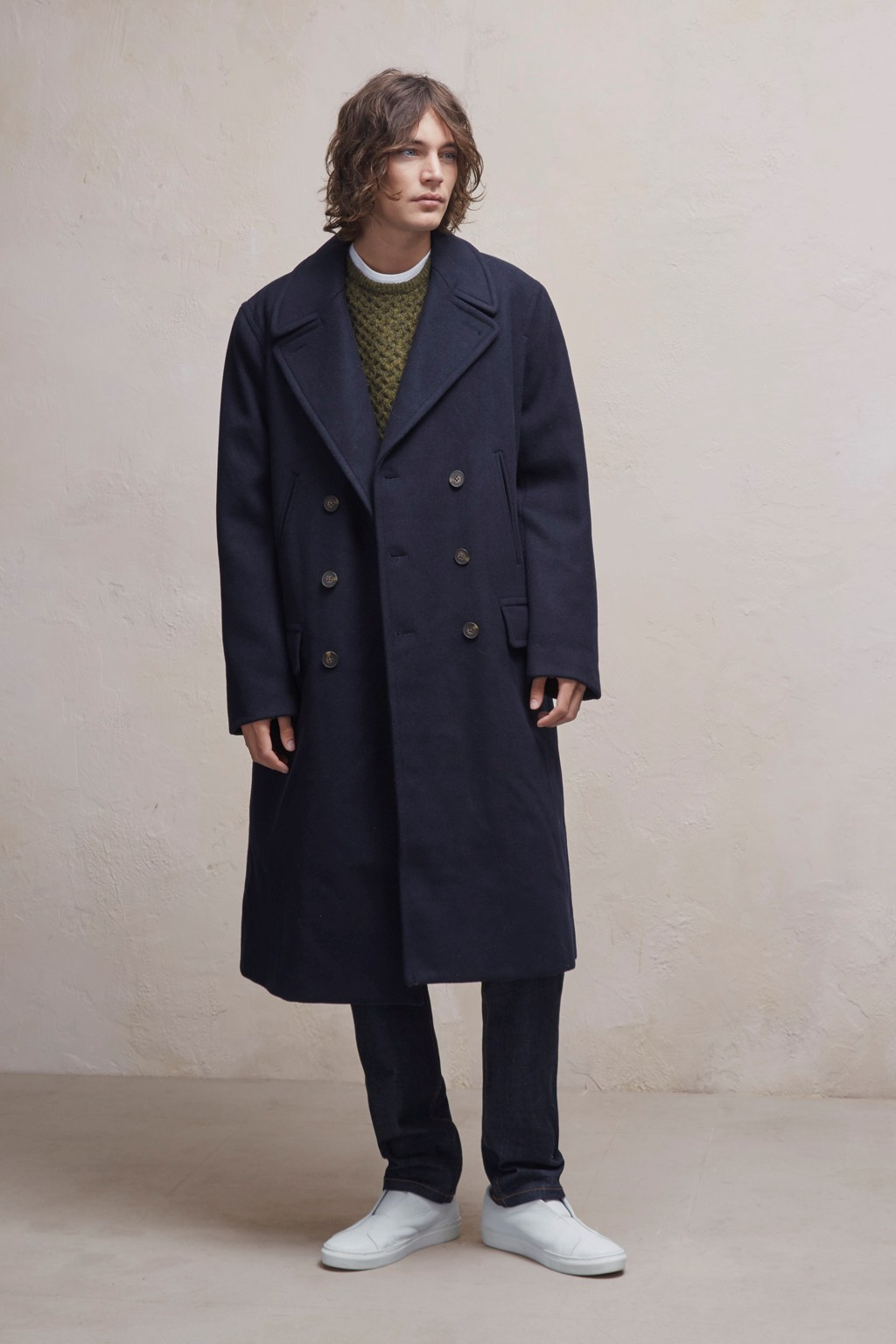 Cabafeltro Wool Melton Long Coat Collections French