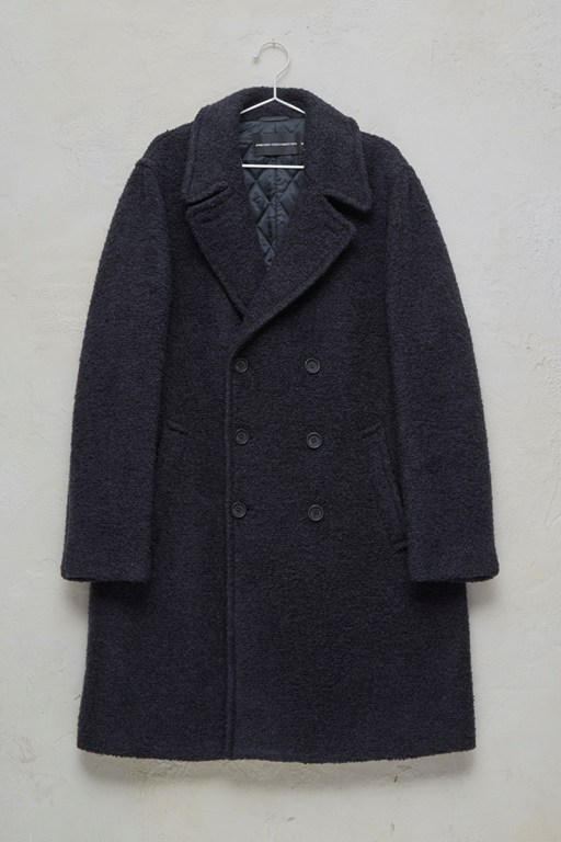 boucle coated coat