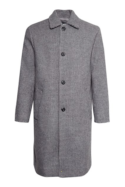 Double Dogtooth Check Coat