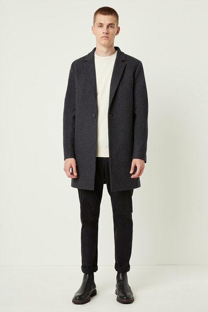 Winter Melton Button Coat