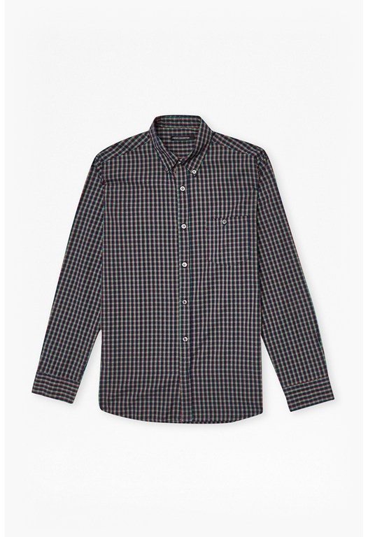 Washed Check Shirt