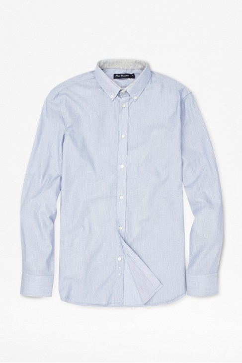 Micro-Striped Cotton Formal Shirt