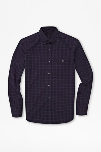 Check Button-Down Cotton Shirt
