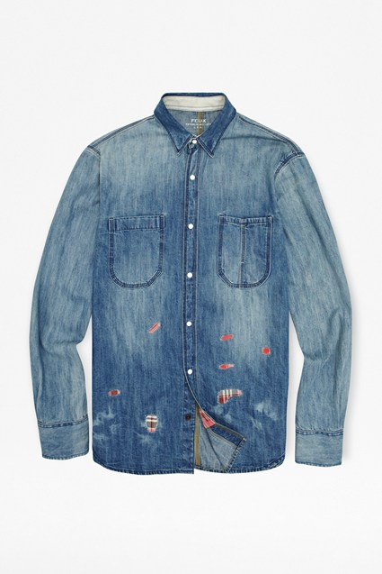 Patch Denim Shirt