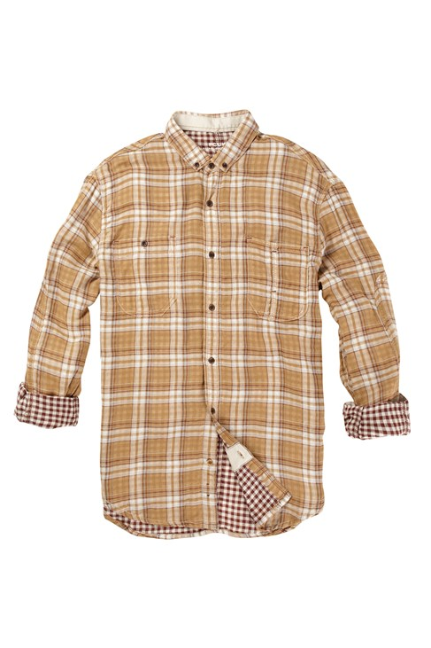 French Connection Cotton Checked Shirt Brown