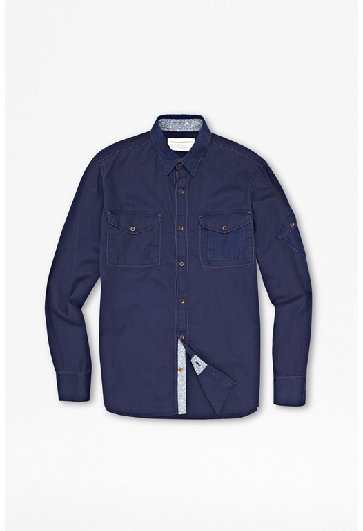 Dyed Twill Cotton Shirt