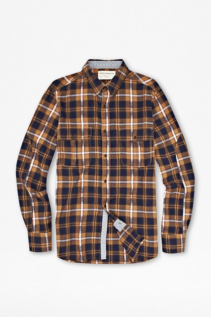 Wonky Plaid Cotton Shirt