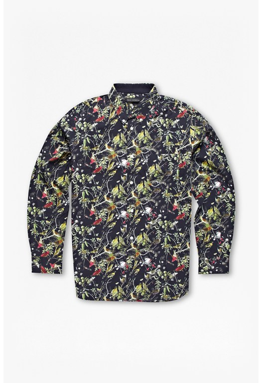Dark Bird Printed Shirt
