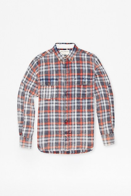 Bleached Check Shirt