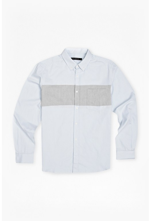 Engineered Chambray Cotton Shirt