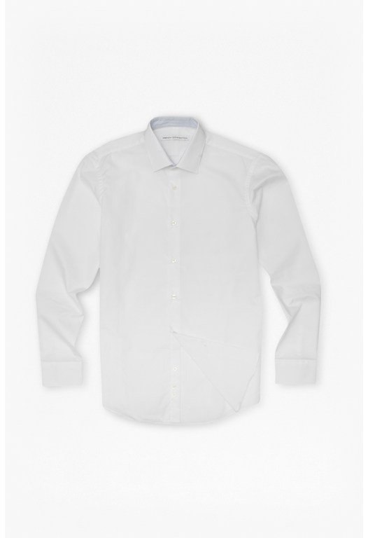 Plain White Tailored Poplin Shirt