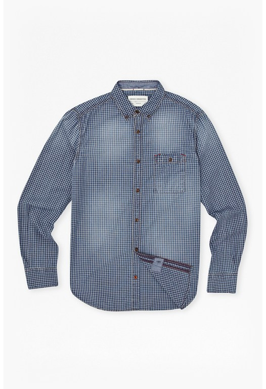 Simple Indigo Check Shirt