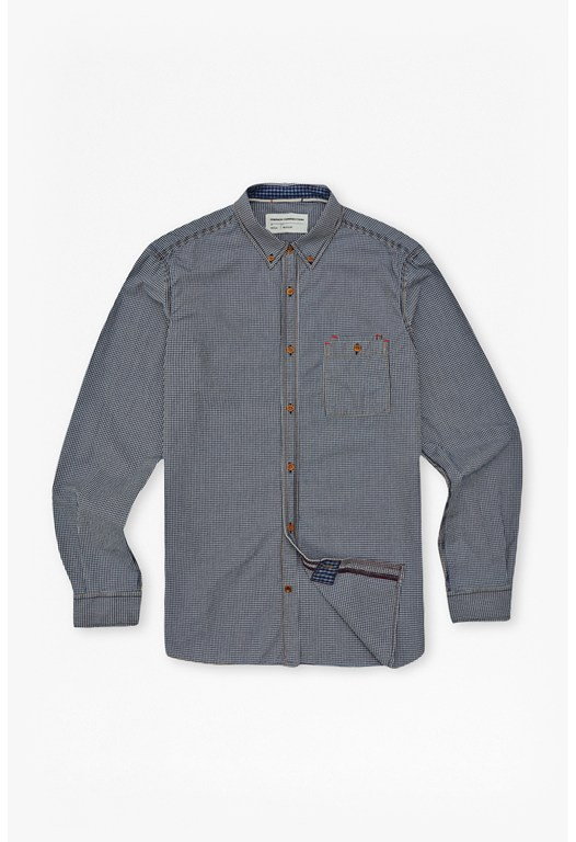 Real Indigo Gingham Shirt