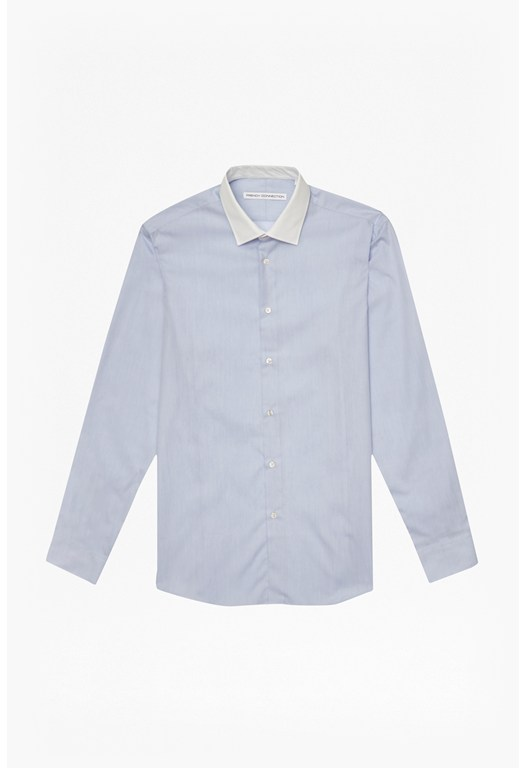 Mb Contrast Collar Shirt