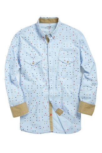 Portoroo Printed Oxford Shirt
