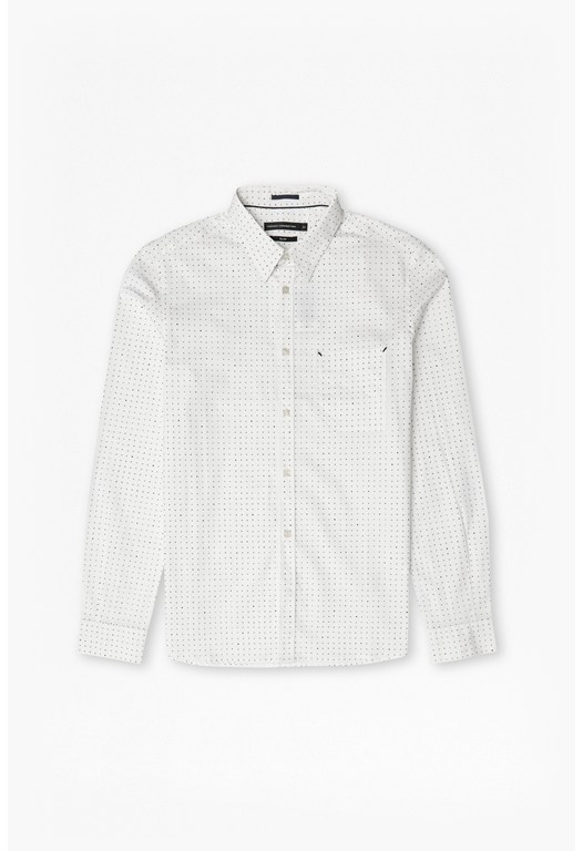 Dunite Dot Stripe Printed Shirt