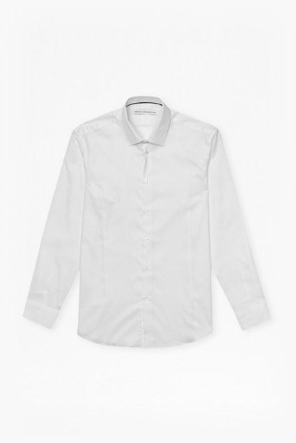 White Dobby Shirt Slim Fit Shirt