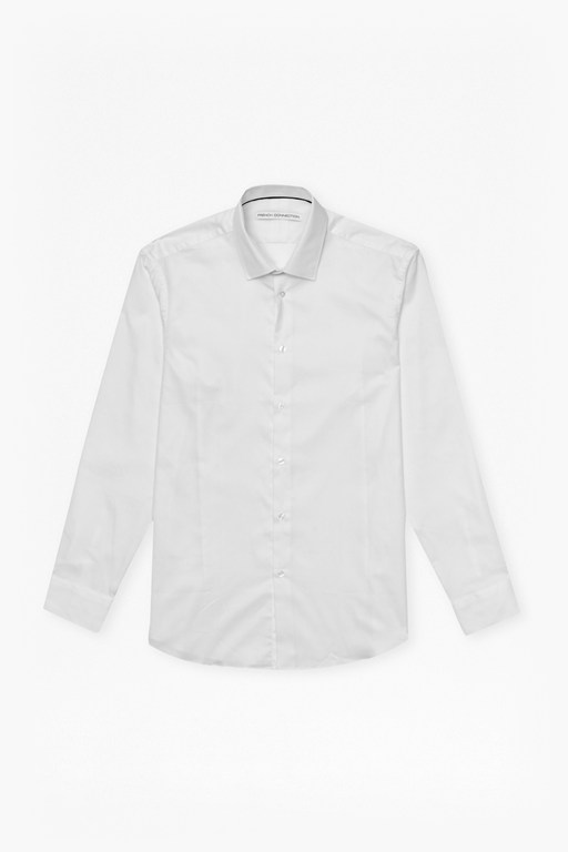 Complete the Look White Dobby Shirt Slim Fit Shirt