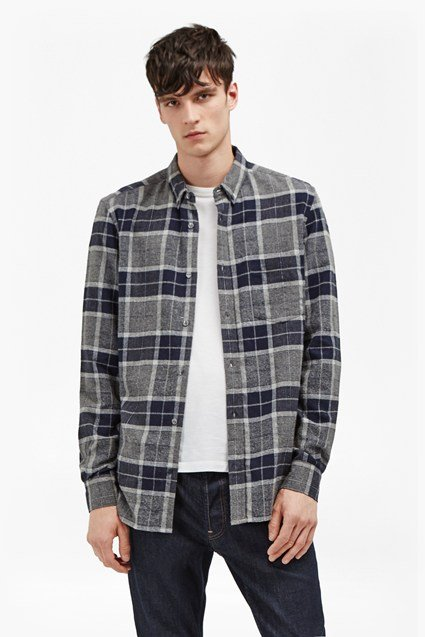 Large Check Flannel Shirt