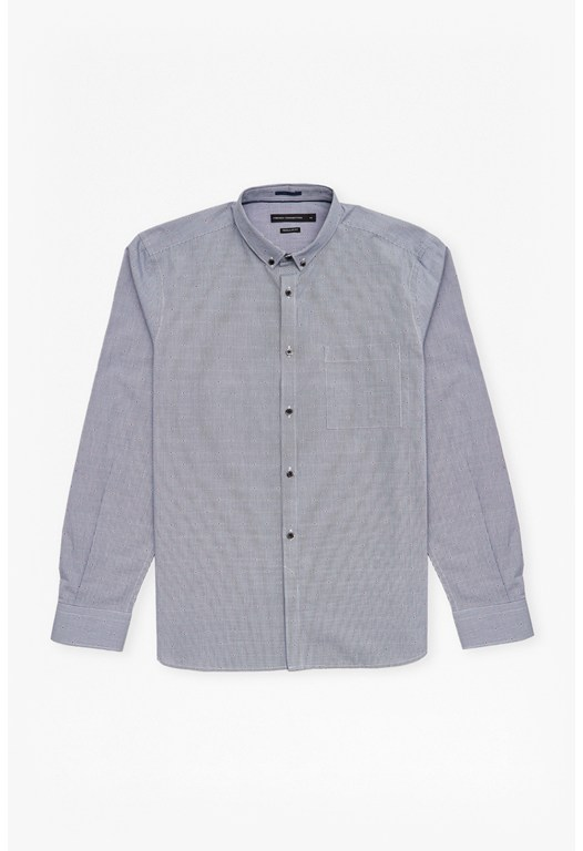 Gingham Dot Regular Fit Shirt