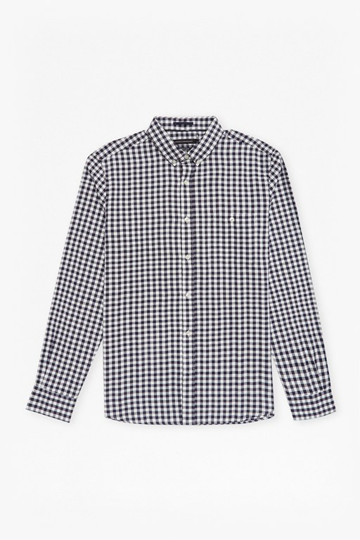 Complete the Look Flannel Herringbone Gingham Shirt