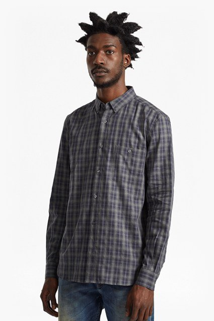 Lifeline Ombre Check Regular Fit Shirt