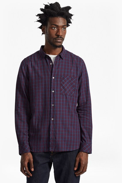 Soft Cotton Twill Check Shirt