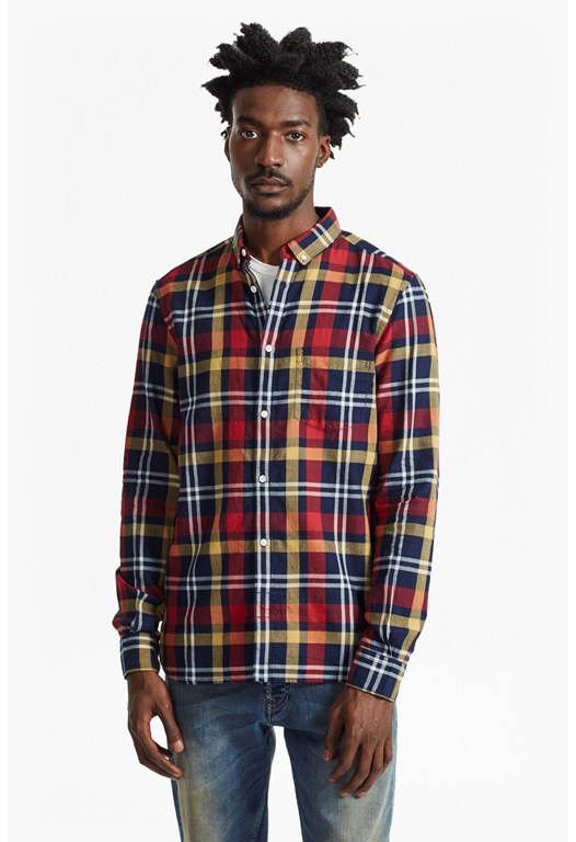Indigo Oxford Check Shirt
