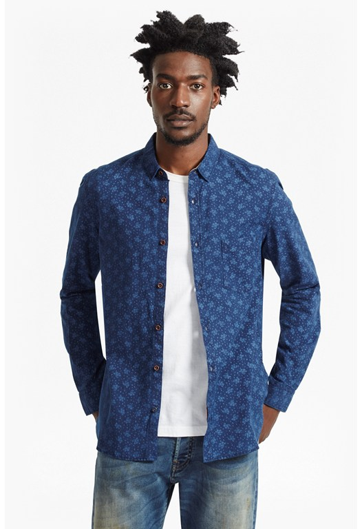 Indigo Paisley Regular Fit Shirt