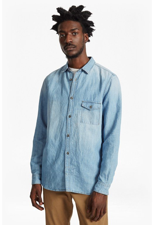 Cotton Linen Denim Shirt