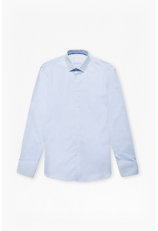 Sky Oxford Spot Shirt
