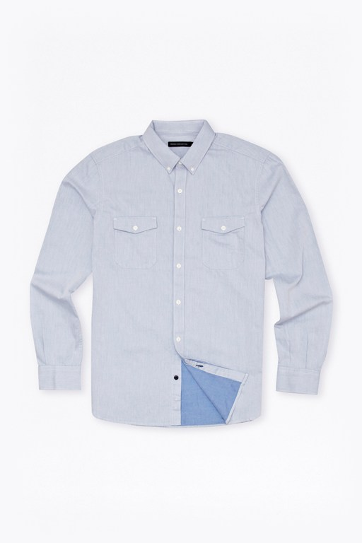 Complete the Look Summer Twill Chambray Shirt