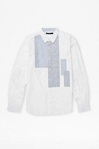 Patchwork Printed Poplin Shirt