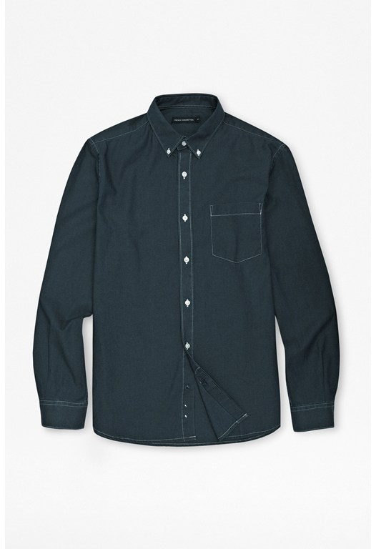 Patch Pocket Denim Shirt
