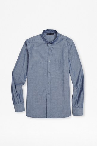 Chambray Long Sleeved Shirt