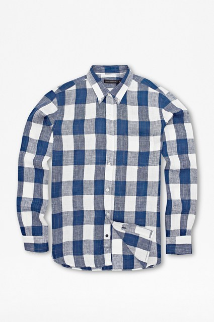 Lurcher Check Linen Shirt