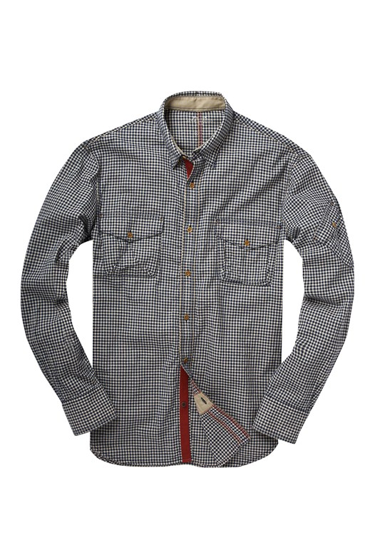 Wildcat Indigo Gingham Shirt