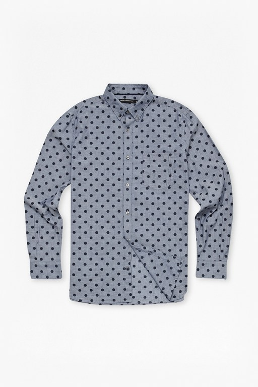 super light polka dot shirt