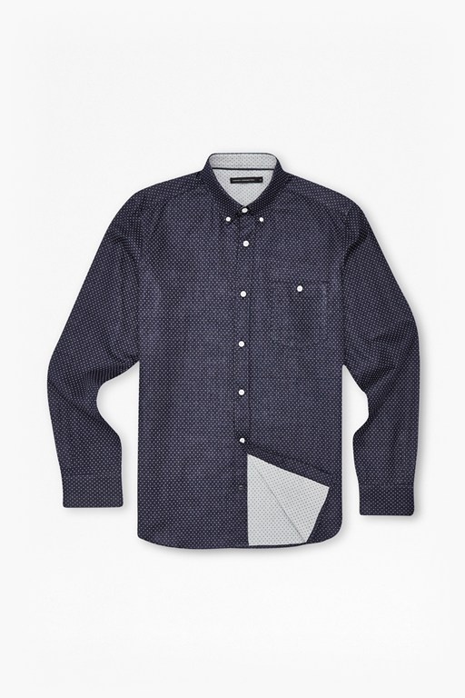 pixel cotton dotty shirt