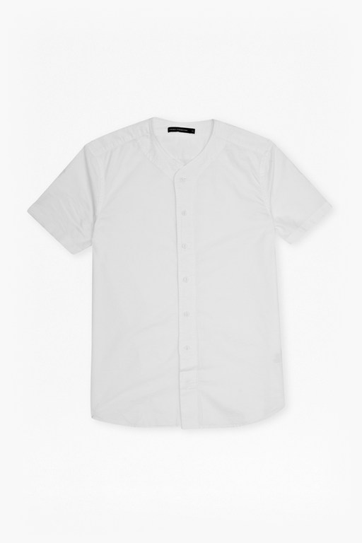 block sport collarless shirt