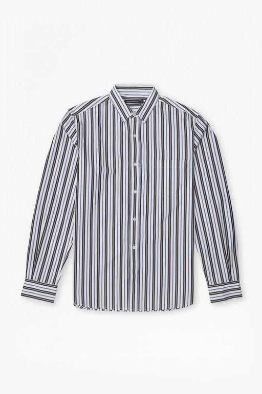 multi stripe cotton shirt