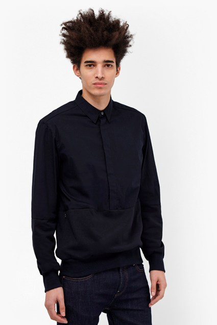 Stretch Poplin Hybrid Connery Shirt
