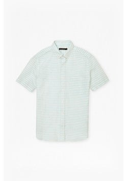 Fresh Linen Stripe Short Sleeve Shirt